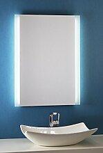 Bricode Süd Badspiegel Persis (B) 60cm x 80cm groß Badezimmerspiegel mit LED Beleuchtung Warmweiß