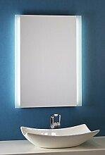 Bricode Süd Badspiegel Persis (B) 60cm x 80cm groß Badezimmerspiegel mit LED Beleuchtung Neutralweiß