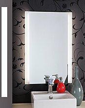 Bricode Süd LED Badspiegel 60cm x 120cm groß Persis (B) Rahmenlos Badezimmerspiegel mit LED Beleuchtung Spiegel Warmweiß