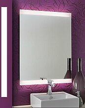 Bricode Süd LED Badspiegel Persis(AH) Wandspiegel mit Beleuchtung in ver. Größen & Lichtfarben 50cm x 75cm (breite x höhe) Warmweiß