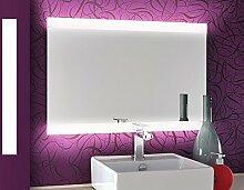 Bricode Süd LED Badspiegel Persis (AQ) Wandspiegel in Ver. Größen & Lichtfarben (warmweiß, 75 x 50 cm) Spiegel für Das Bad