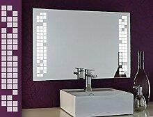 Bricode Süd LED Badspiegel Play (CQ) Spiegel mit Beleuchtung in ver. Größen & Lichtfarben 70cm x 70 cm (Breite x Höhe) Warmweiß