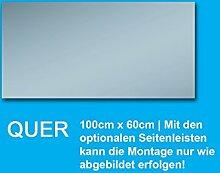 Bricode Süd Wandspiegel Badspiegel Rahmenloser Spiegel Garderobenspiegel (s) 100cm x 60cm : mit Seitenleisten