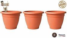 BricoLoco 3er Set Dekorativer Blumentopf für den