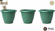 BricoLoco 3er Set Dekorativer Pflanztopf für den