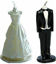 Bride & Groom Hochzeit Kleid Set Silikon Form
