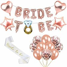 Bride to BE Rosa Folienballons Luftballons JGA