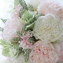 Bridesmaid bouquetPowder weiß peonybride Blumen