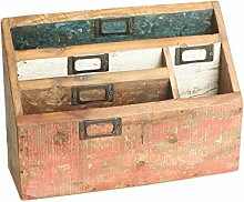Brief und Ablage-Box aus Altholz vintage