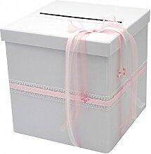 Briefbox Rosa Taufe Geburt Baby Kartenbox Geldgeschenke