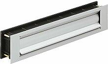 Briefeinwurf-Klappe wärmegedämmt Zeitungsklappe für Haustüren & Wohnungseingangstüren | Einwurfklappe Aluminium silber eloxiert | MADE IN GERMANY | Baubeschläge von GedoTec