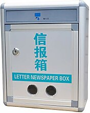 Briefkästen HUYP Aluminiumlegierung freien
