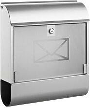 Briefkasten Alco Letter mit Zeitungsfach silber
