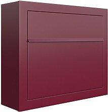 Briefkasten, Design Wandbriefkasten Elegance Rot -