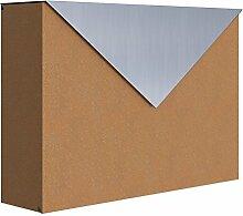 Briefkasten, Design Wandbriefkasten Letter Rost/Edelstahl - Bravios