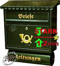 Briefkasten F groß in grün dunkelgrün moosgrün