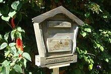 Briefkasten, Holzbriefkasten HBK-SD-SCHWARZ aus