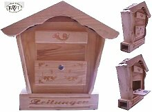 Briefkasten, Holzbriefkasten mit Holz - Deko