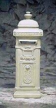 Briefkasten klassisch, post box, Stein Farbe hellgrau