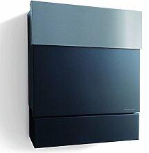 Briefkasten Letterman 5 schwarz mit Edelstahl Briefklappe, radius design