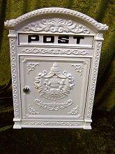 Briefkasten London weiß aus Alu wie historisch