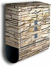 Briefkasten mit Deko Motiv: Asia Stone BK239,