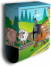 Briefkasten mit Deko Motiv: Farmtiere BK257,