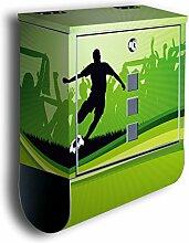 Briefkasten mit Deko Motiv: Fussball BK439,