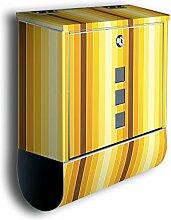 Briefkasten mit Deko Motiv: Gelb Muster BK93,