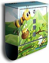 Briefkasten mit Deko Motiv: Honigbienen BK497,