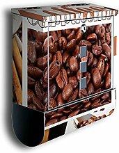 Briefkasten mit Deko Motiv: Kaffee BK47, Edelstahl