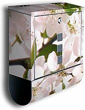 Briefkasten mit Deko Motiv: Kirschblüten BK8,