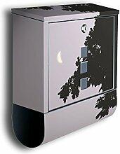 Briefkasten mit Deko Motiv: Mond am Abend BK43,