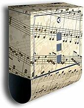 Briefkasten mit Deko Motiv: Notenblatt BK180,