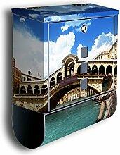 Briefkasten mit Deko Motiv: Rialtobrücke Venedig