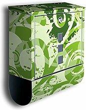 Briefkasten mit Deko Motiv: Ronja BK166, Edelstahl