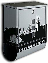 Briefkasten mit Deko Motiv: Stadt Hamburg BK582 ,