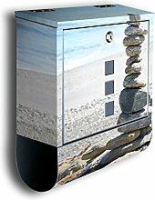 Briefkasten mit Deko Motiv: Steinturm BK40,