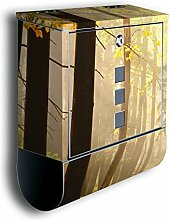 Briefkasten mit Deko Motiv: Waldweg BK24,