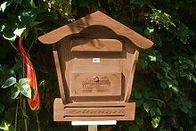 Briefkasten mit Holz - Deko HBK-SD-DUNKELBRAUN aus