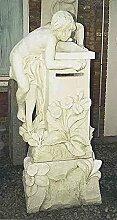 Briefkasten mit Sockel, post box, Stein H 140 Farbe hellgrau