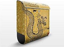 Briefkasten mit Zeitungsrolle Chinese Dragon 46cm