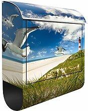 Briefkasten mit Zeitungsrolle Dune Breeze 46cm x