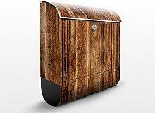 Briefkasten mit Zeitungsrolle Holzhütte 46cm x