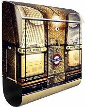 Briefkasten mit Zeitungsrolle London Baker Street