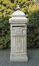 Briefkasten New England, post box, Stein Farbe hellgrau