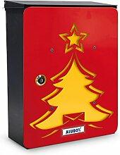 Briefkasten Personalisierte Baum rot, ro