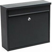 Briefkasten Postkasten Design Anthrazit