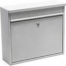 Briefkasten Postkasten Design Silber