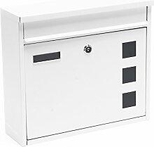 Briefkasten Postkasten Design Weiß